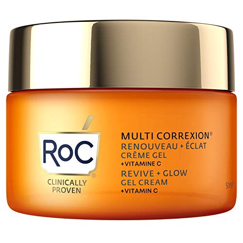 RoC - Multi Correxion Revive + Glow Gel Crema Vitamina C - Antiarrugas y Envejecimiento - Hidratante Reafirmante - 50ml