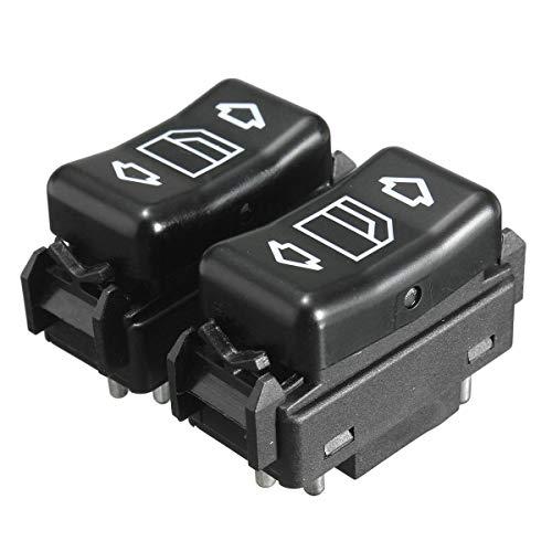Botonera Elevalunas Interruptor de ventanas de potencia de control maestro eléctrico izquierdo o derecho para Mercedes para Benz E W124 W126 W201 W463 1248204610 1248204510 (Color : 1)