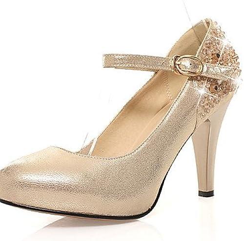 GGX  Chaussures Femme-Mariage   Bureau & Travail   Soirée & EvéneHommest   Habillé   Décontracté-Noir   Or-Talon Aiguille-Talons   Confort