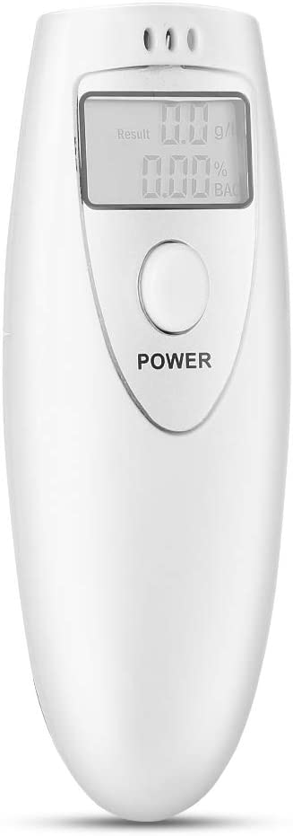Alcohol Detector Cheap mail order sales Digital Quick Por White Superior Breathalyzer Analyzer