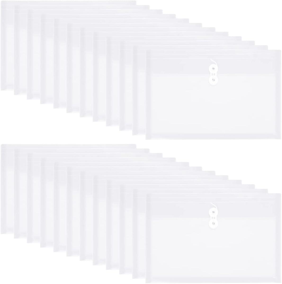 Yoeejob Plastic Envelopes Sacramento Mall Legal Size Closure with Tie String Regular discount Cl
