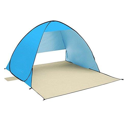 iHome&iLife Automatico tenda Pop Up portatile esterna spiaggia tenda Sole Shelter Parasole Sport Shelter ombrellone (blu)