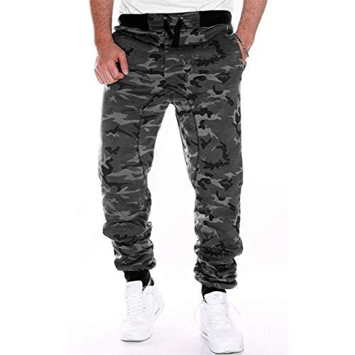 Feidaeu Hommes Pantalons de survêtement Camouflage Cordon Ceinture Pantalon Casual Loisir Et Sportif Style Élastique De Fitness Joggers Pantalon