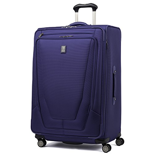 Travelpro Crew 11-Softside Expandable Luggage with Spinner Wheels, Indigo, Checked-Large 29-Inch