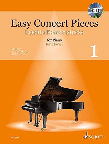 Easy Concert Pieces: 50 leichte Stücke aus 5 Jahrhunderten. Band 1. Klavier. Ausgabe mit CD.