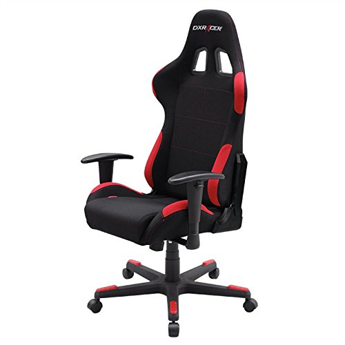 DXRacer OH/FD01/NR Formula Series Black and Red Gaming Chair - Includes 2 Free Cushions