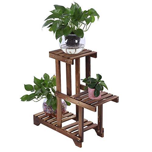 GHJA Jardinera de Escalera Vertical para bonsáis y Flores, Estante de Madera para Flores, Soporte para Plantas Decorativas, para balcón de jardín al Aire Libre, 55 x 66 cm