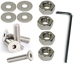 Allen de bot/ón acero autoadhesivas para tornillo M6 6 mm x 20 mm Color unidades 25 tornillos Llaves de vaso Allen