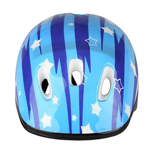 NON Casco de Moto y monopatín para niños, Ajustable para Edades de 6-12 Plus, para Ciclismo, Patinaje y patineta Seguridad, Ligero con Acolchado cómodo - Azul