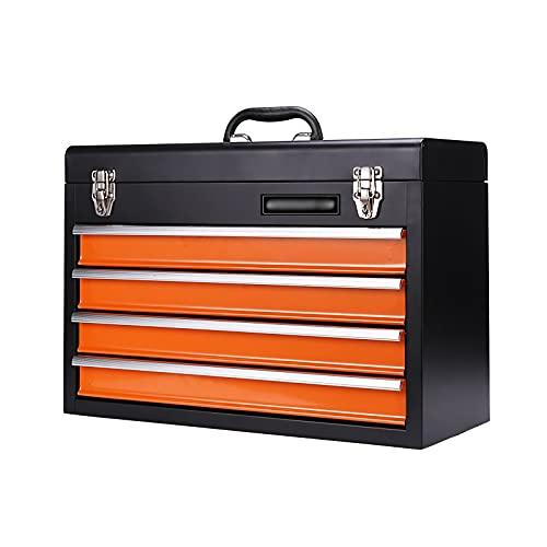 Caja de herramientas Cofre de la herramienta de acero portátil con cajones Caja de hardware Almacenamiento Organizador Gabinete Caja de herramientas de metal de trabajo pesado con rodamientos de bolas