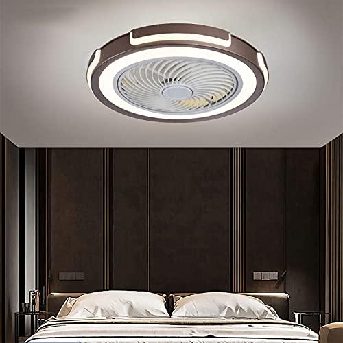 HHGM Ventilador de Techo LED de con iluminación Ventilador Techo con Luz y Mando a Distancia Iluminacion Led Invisible Ventilador de Techo luz Adecuado para Dormitorio, Sala de Estar, Oficina