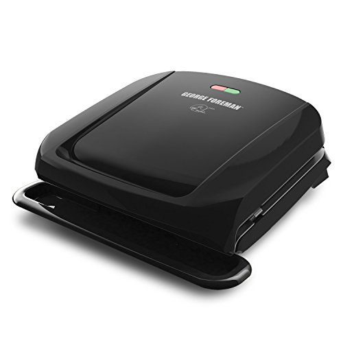 George Foreman 4-Serving Removable Plate Grill and Panini Press,...