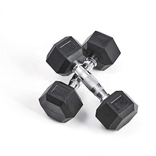 LorsoSport Hanteln, Hanteln, Gewichte, Hex-Set, gerillter sechseckiger Griff, 2x10 kg