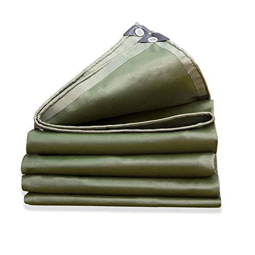 FJZPL Bâche de Pluie épaisse bâche Robuste résistant à l'eau avec Oeillets et Bords renforcés Costumes pour Pare-Soleil Tente de Tente auvent Vert 3x4m (Size : 3mx3m)