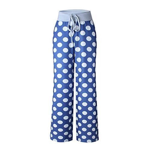 lantusi Women Casual Print Comfy Drawstring Lounge Pants Loose Sport Long Pants Track Pants