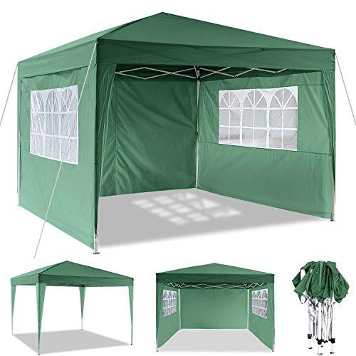 YUEBO 3x3m Gazebo, Heavy Duty Gazebo Waterproof Marquee Tent Gazebo with Sides and Carry Bag for Garden/Beach/Instant Shelter/Flea Market