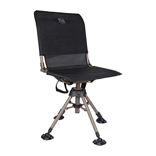 TIMBER RIDGE 360 Degree Swivel Hunting Chairs for Blinds Heavy Duty Folding Rotating Hunt Chair Blind Seats with 2 Adjustable Legs,225LBS