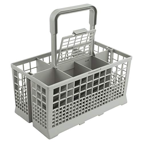 Universal Dishwasher Cutlery Basket (9.5 x 5.4 x 4.8 inches) Compatible with Kenmore, Whirlpool, Bosch, Maytag, KitchenAid, Samsung, GE, and more