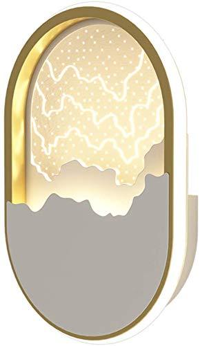SSeir Lámpara de Pared de LED Creativa, lámpara de Pared LED en la Sala de Estar y el Dormitorio adopta una Pantalla acrílica con transmisión de luz Fuerte y protección para los Ojos cómoda