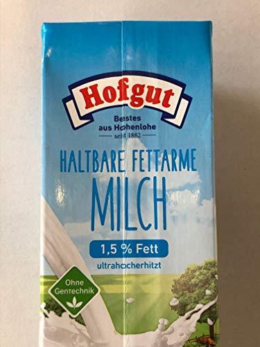 Hofgut Haltbare fettarme Milch, 12er Pack (12 x 1 l)