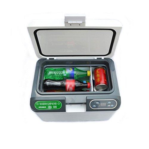 WJSWBX 12L Dual Core Refrigeration Tragbarer Kühlschrank Kleine Gefriertruhe Auto Und Heim Dual-Use-Kühlschrank Mini-Kühlschrank 12 V / 24 V / 220 V Fahrzeug Auto Kühlschrank Kühlschrank