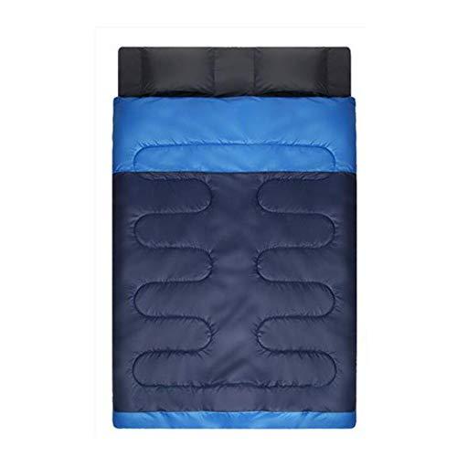 Jcnfa-sac de couchage Adulte Extérieur Quatre Saisons Camping Double Couple De Couchage (Couleur : 220 * 145cm, Taille : A2.4)