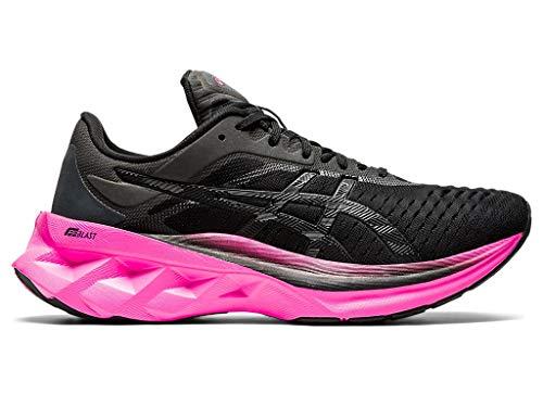 ASICS Novablast Zapatillas de running para mujer, Negro (rosado, negro (Black/Pink Glo)), 37.5 EU