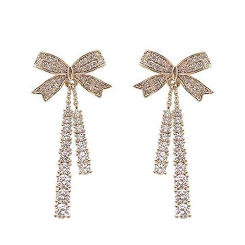 HHYSPA Butterfly Tassel Pearl Stud Earrings,Long Chain Bow Tassel Dangle Drop Stud Earrings,Original Design Symbolizing Luck and Renewal Jewelry,For Women