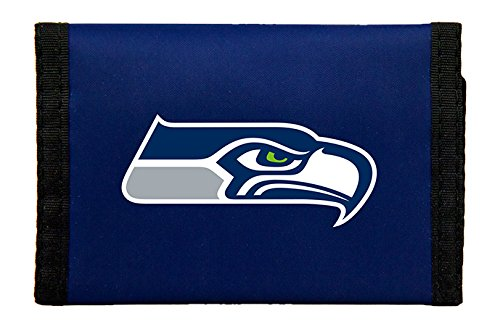 NFL Rico Industries Nylon Trifold Wallet, Seattle Seahawks