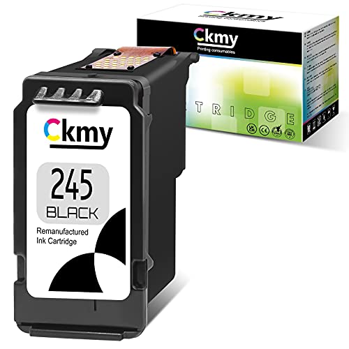 CKMY Remanufactured Ink Cartridge Replacement for PG245 245 ( 1 Black ) for Canon Pixma MG3022 MG2522 MG2555 TR4520 TR4522 MG2922 MG2920 TS202 MX492 MX490 iP2820 TS302 MG2520 MG2525 TS3322 Printer