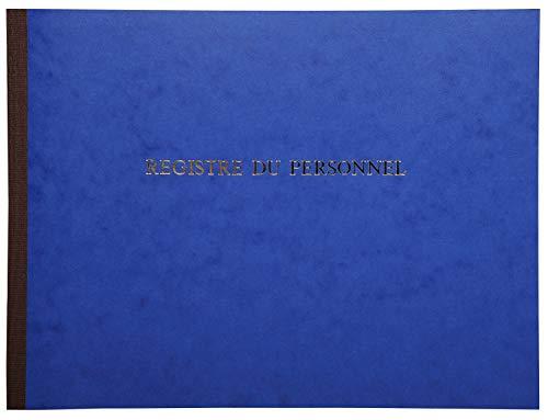 Le Dauphin - Réf. 310D - 1 Piqûre - Dimensions 24 x 32 cm - Format horizontal - Registre du personnel salarié et stagiaire - 40 pages - Couverture souple en carte lustrée de couleur Bleue