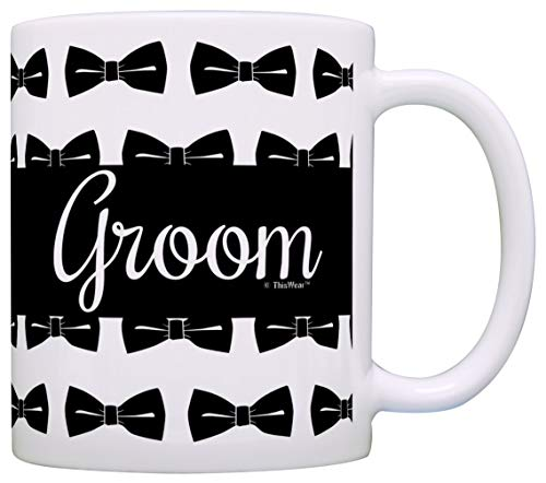 Regalo de boda gay novio Pro regalo de matrimonio gay paquete de 2 tazas de café de regalo tazas de té lunares lunares - 1