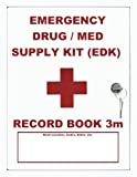 Emergency Drug / Med Supply (EDK) Record Book 3m: Mid Size - White Cover