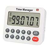 Digital Countdown Kitchen Timer - AIMILAR AY4052-1 Magnetic Count Up Down Cooking Timer with Magnet Back Loud Alarm Directly Input Hours Minutes and Seconds