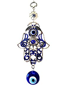 Betterdecor Blue Evil Eye and Hamsa Hand Hanging Ornament (with a Pouch)-023