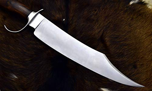 "DKONLY-BLADES USA Special Edition: 19.5"" Custom Handmade D2 Steel Hunting MUSSO Bowie Knife with Rose Wood Handle (AM63)"