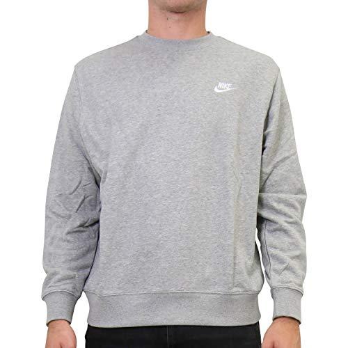 Nike Herren Pullover, Dk Grey Heather/White, S