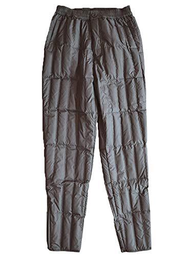 [ネルロッソ] ダウン パンツ 防寒 暖パン 暖かい ナイロンパンツ メンズ アウトドア バイク 登山 ゴルフ 釣り 大きいサイズ 正規品 M ダークグレー cmy24426-M-dgy