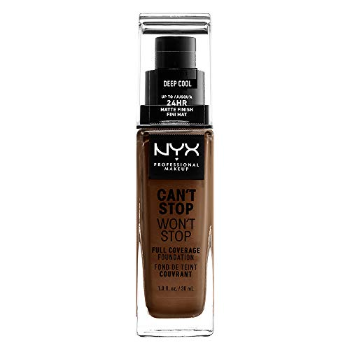 NYX Professional Makeup Can't Stop Won't Stop Foundation Deep Cool, 30 ml