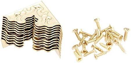 10st Metalen Haakse Beugel Beugel Antiek Metalen Hoekbeschermer Meubels Metaal Ambachten Juwelendoos Hoek Voet Hout Case H...