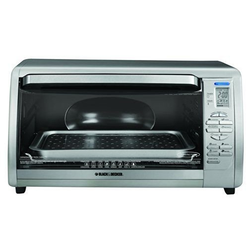 BLACK+DECKER CTO6335S Stainless Steel Countertop Convection Oven, Silver New
