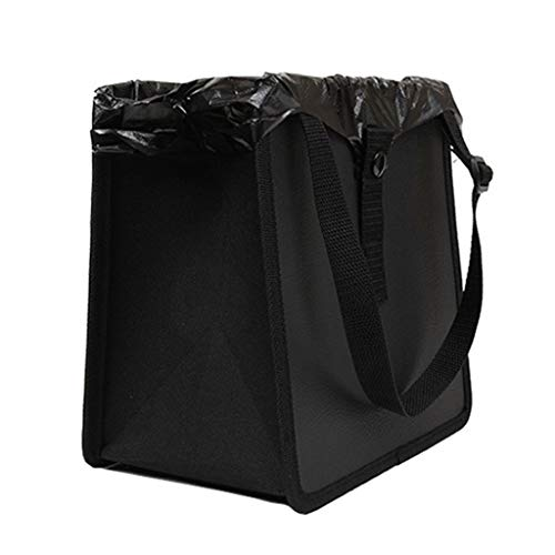 Car Trash Can Backseat Front seat- Organizer Interior Accessories Waste Basket Bin Best for Hanging Font on Seat Auto Litter Container - Vehicle Bags Cans Holder for Automotive Cars SUV Truck