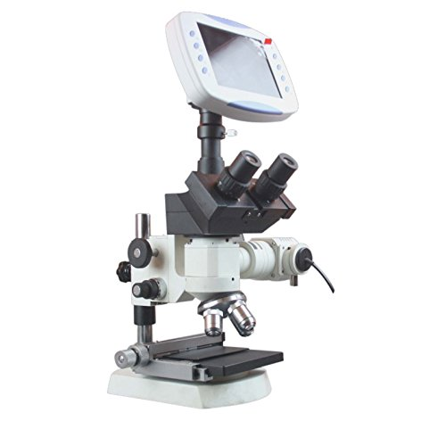 Radical Trinocular Metallurgical Microscope w XY Stage 2MP TV Camera 6' LCD 1GB Storage