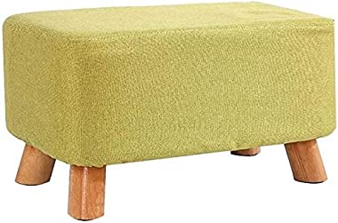 Storage Footstool Footstools Ottomans Change Shoe Bench Small Stool Cloth Solid Wood Living Room Sofa Stool Multiple Sizes (C