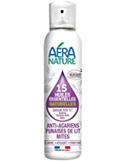 AERA NATURE : Anti Punaises de lit, acariens et mites, contrôlé ECOCERT, aux 15 huiles essentielles naturelles, 125ml, by Laboratoire Columbus Natura
