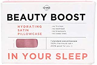 SHINE by NIGHT Beauty Boost Satin Pillowcase