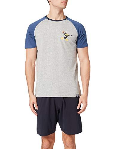 Springfield Pijama Pato Lucas Juego, Azul Oscuro, XL para Hombre