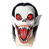 ZZHJYD Máscara de Halloween Máscara de Bruja Hounted House Secret Room Dress Up Avatar Disfraz Fiesta Personajes Play Props Realista Latex Human Head Horror Mask Party Vampire Mascar