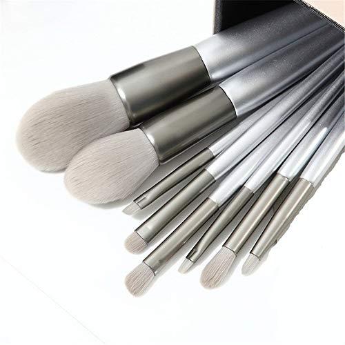 BABIFIS Make-up Penseel Set, 8 Zilver Synthetische Vezel Losse Poeder Oogschaduw Penseel Schoonheid Gereedschap Antibacteriële Beginners