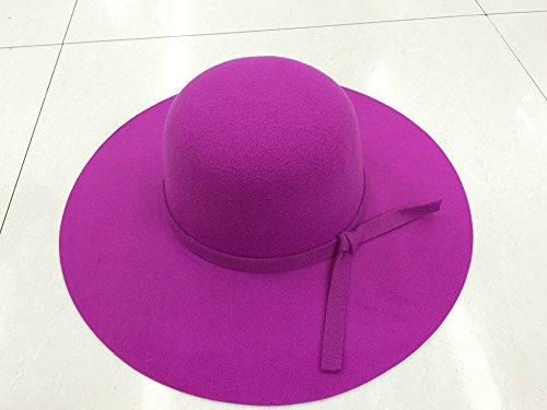 DaoRier Sombrero de ala ancha, capuchino, sombrero de cabo, sombrero, sombrero de pelo, (uno por uno), tamaño: borde de sombrero de 56-58 CM 11CM